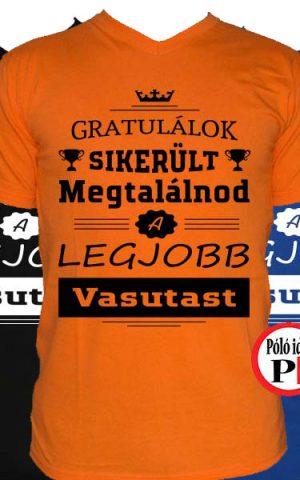 gratulálok vasútas póló