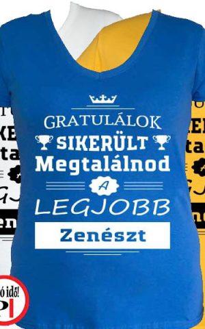 gratulálok zenekaros póló női