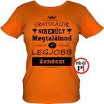 gratulálok zenekaros póló női narancs
