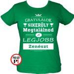 gratulálok zenekaros póló női zöld