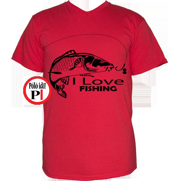 Ajándék horgászoknak - Egyedi Horgász póló - Póló Idő 833867a3b8
