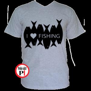 horgász póló i love fishing
