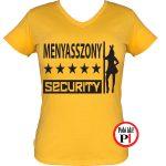 lánybúcsú póló security citrom