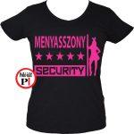 lánybúcsú póló security fekete