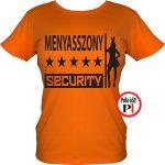 lánybúcsú póló security narancs