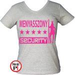 lánybúcsú póló security szürke