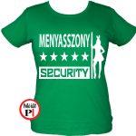 lánybúcsú póló security zöld