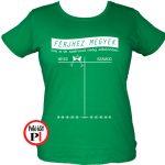 lánybúcsú póló számod zöld