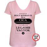 mások között cicás női póló pink