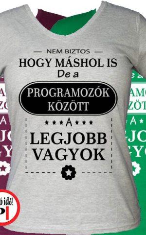 másban is programozó póló női