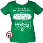 másban is zenekaros póló női zöld