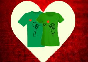 zöld páros póló