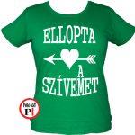 páros pólók szívemet zöld