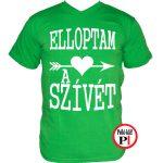 páros pólók szívét zöld
