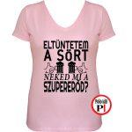 sörös póló eltüntetem női pink