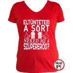 sörös póló eltüntetem női piros