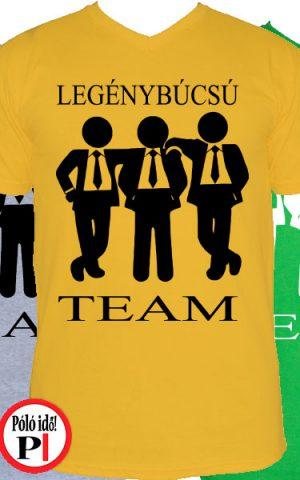 team legénybúcsú póló