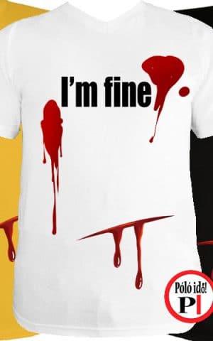 vicces póló I'm fine férfi
