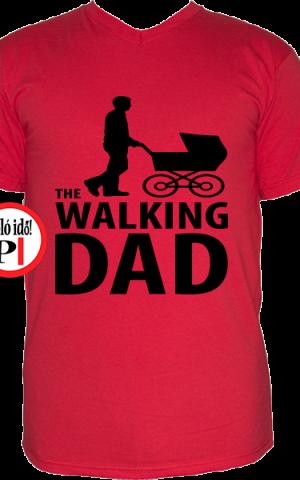 walking dad póló piros